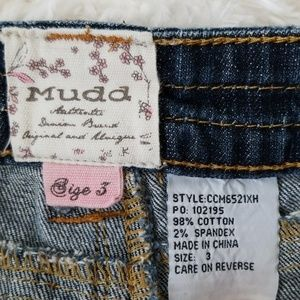 Mudd Shorts - Distressed Denim Short Shorts Embroidered Pockets